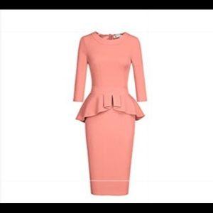 Dresses & Skirts - Peach Peplum Dress